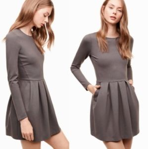 Aritzia Sunday Best Tartine dress taupe size 0